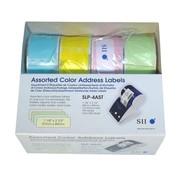 Étiquettes d'exped. div. coloris 28x89mm