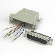 Adaptateur modulaire DB25 m.-RJ45 8P/8C