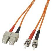 Câble FO duplex ST/SC 15 m 62,5/125 µm