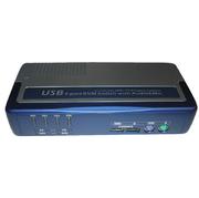 Commut. KVM 1:4 USB+PS/2,VGA+4câbles KVM