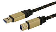 Câble USB 3.0 A m. - B m., Premium 1,8 m
