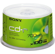 CD-R80 Sony 48x, spindle de 100