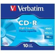 CD-R 800 Mo Verbatim 40x, jewel x10