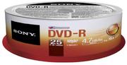 DVD-R 4,7 Go Sony 16x, spindle de 25
