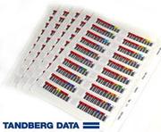 Étiq. codes-barres LTO TANDBERG Ultrium6
