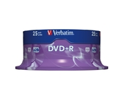 DVD+R 4,7 Go Verbatim 16x, spindle de 25