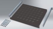 Étagère fixe, P : 500 mm, noir