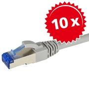 10 x câble patch cat6A,S/FTP, 2 m gris