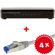 Switch Gigabit ARP 8 ports +4xcâble RJ45