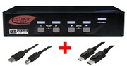 Switch KVM ARP 1:4 USB, DisplayPort