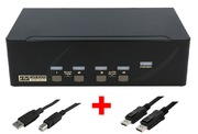 Commut. KVM ARP 1:4 USB Dual DisplayPort
