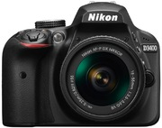Kit appareil photo Nikon D3400, noir