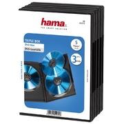 Étui DVD vide Hama Triple, par 5