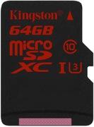 Carte microSDXC 64 Go Kingston UHS-I U3