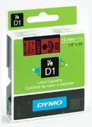 Ruban Dymo D1 rouge/noir, 12 mm