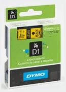 Ruban Dymo D1 jaune/noir, 12 mm