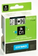 Ruban Dymo D1 blanc/noir, 24 mm