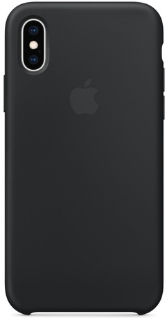 Coque silicone Apple iPhone XS Max, noir